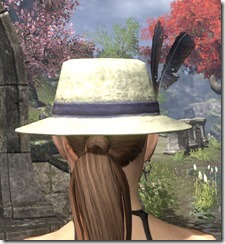 Plumed Mourning Hat Dyed Rear