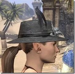 Plumed Mourning Hat Female Side