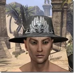 Plumed Mourning Hat Male Front