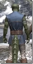 Rawhide-Laced Riften Jerkin Argonian Male Close Rear