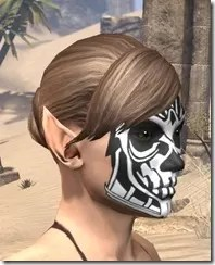 Spoked Skull Face Tattoo Female Side