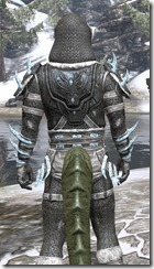 Stahlrim Frostcaster Iron - Argonian Male Close Rear