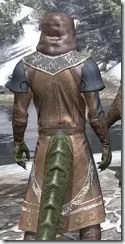 Telvanni Wizard-Lord Robe - Argonian Male Close Rear