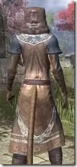 Telvanni Wizard-Lord Robe - Khajiit Female Close Rear