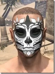 Verdatn Skull Face Tattoo Male Front