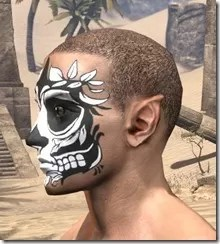 Verdatn Skull Face Tattoo Male Side