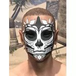 Verdant Skull Face Tattoo