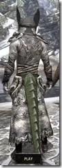 Winterborn Shaman's Costume - Argonian Male Rear