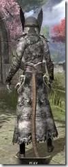Winterborn Shaman's Costume - Khajiit Female Rear
