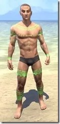 Bright-Throat Algae Body Tattoo Male Front