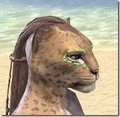 Bright-Throat Algae Face Tattoo Khajiit Female Rear