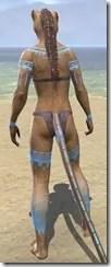 Bright-Throat Woad Body Tattoo Khajiit Female Rear