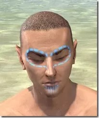 Bright-Throat Woad Face Tattoo Male Front