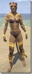 Bright-Throat Yolk Body Tattoo Khajiit Female Front