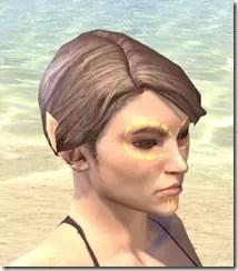 Bright-Throat Yolk Face Tattoo Female Right
