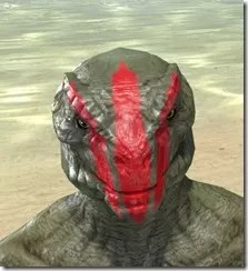 Dead-Water Blood Face Tattoos Argonian Male Front