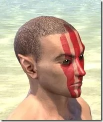 Dead-Water Blood Face Tattoos Male Right