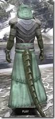 Pyandonean Homespun - Argonian Male Robe Rear