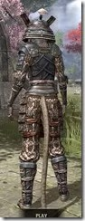 Akaviri Iron - Khajiit Female Rear