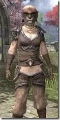 Dark Elf Homespun - Khajiit Female Shirt Close Front