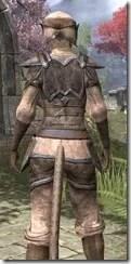 Dark Elf Homespun - Khajiit Female Shirt Close Rear