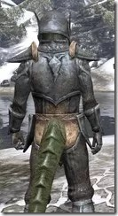 Dark Elf Iron - Argonian Male Close Rear