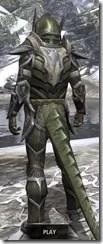 Dark Elf Orichalc - Argonian Male Rear