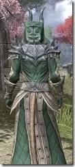 Ebonheart Pact Homespun - Khajiit Female Robe Close Rear