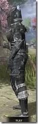 Ebony Iron - Khajiit Female Side