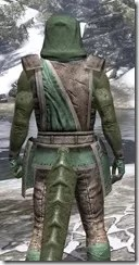 Imperial Homespun - Argonian Male Shirt Close Rear