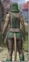 Imperial Homespun - Khajiit Female Shirt Close Rear