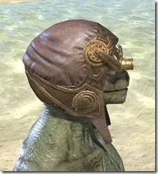 Imperial Mananaut Cap & Goggles - Argonian Male Right