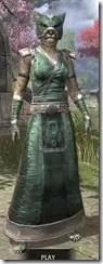 Khajiit Homespun - Khajiit Female Robe Front