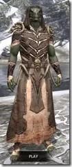 Primal Homespun - Argonian Male Robe Front