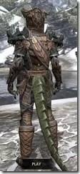 Wood Elf Dwarven - Argonian Male Rear