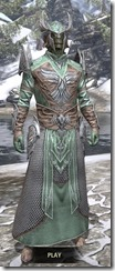 Divine Prosecution Light - Argonian Male Robe Front
