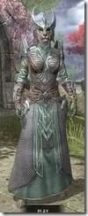 Divine Prosecution Light - Khajiit Female Robe Front