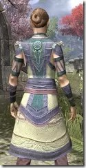 Treethane's Mosaic Jerkin Dyed Close Rear