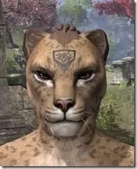 Alftand Glacial Face Tattoos Khajiit Female Front
