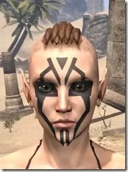 Dwarven Centurion Face Tattoos Female Front