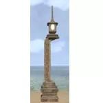 Elsweyr Streetlight, Inlaid Stone