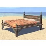 Elsweyr Bed, Rumpled Quilted Double