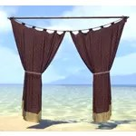 Elsweyr Curtains, Wide Maroon
