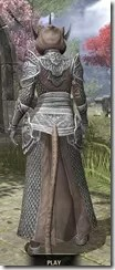 Meridian Homespun - Khajiit Female Robe Rear