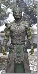 Pellitine Homespun - Argonian Male Robe Close Front