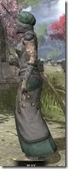 Pellitine Homespun - Khajiit Female Robe Side