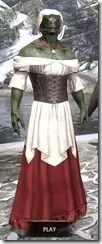 Tavern Maid - Argonian Male Front