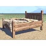 Solitude Bed, Rustic Bearskin Double