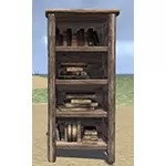 Solitude Bookcase, Narrow Rustic Filled