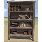 Solitude Bookcase, Rustic Filled